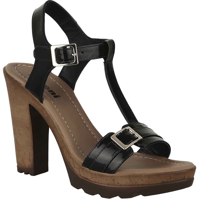 Sandalia Plataforma de Mujer Limoni - Cuero Negro sp leyla02