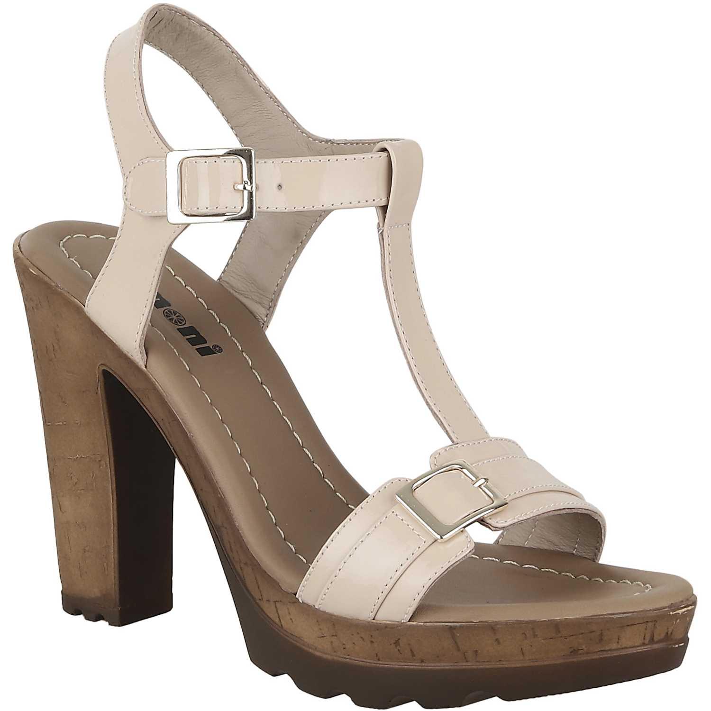 Sandalia Plataforma de Mujer Limoni - Cuero Piel sp leyla02