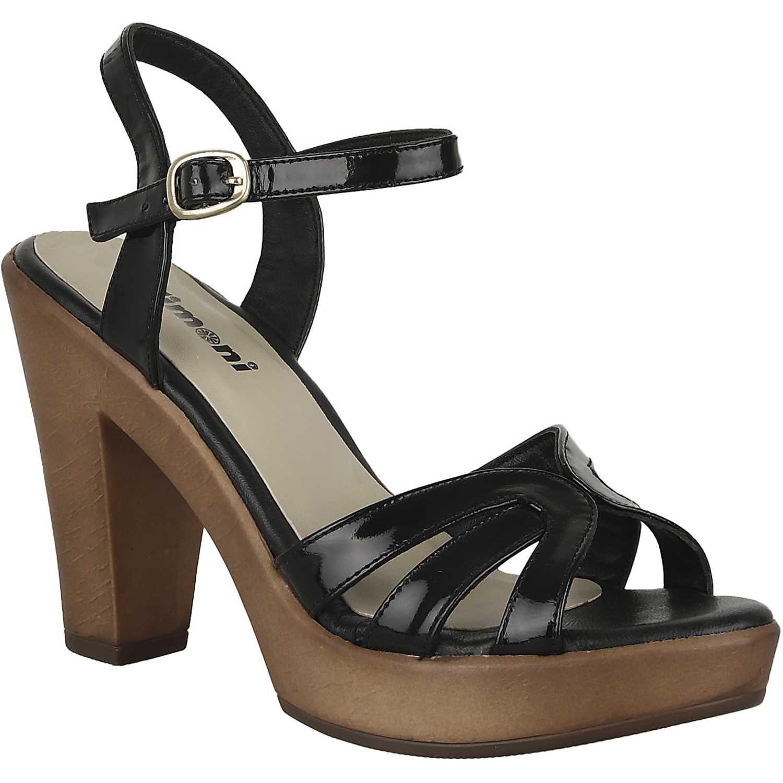 Sandalia Plataforma de Mujer Limoni - Cuero Negro sp valery
