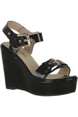 Platanitos Negro de Mujer modelo SPW 3174 Cuña Plataformas Sandalias