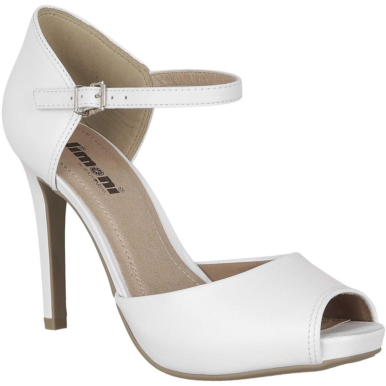 Sandalia Plataforma de Mujer Limoni - Cuero Blanco sp 7255