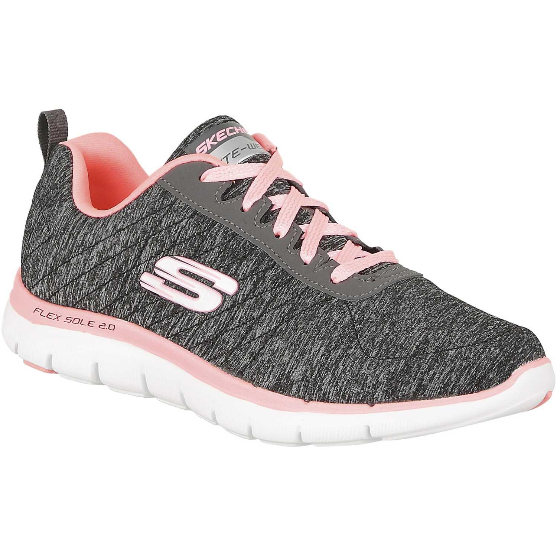 f77186c165e Zapatilla de Mujer Skechers Gris   Coral flex appeal 2.0 12753 ...