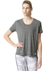 adidas Gris Oscuro de Mujer modelo 3S BOYFRIEND T Ropa Polos Mujer Deportivo