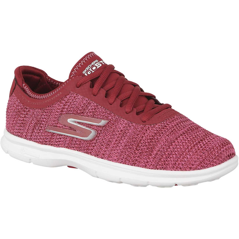Mujer Rojo Skechers Step De 14347 Zapatilla Go 8nvT5xZZ