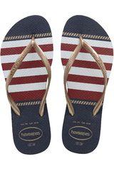 Havaianas Acero de Mujer modelo SLIM NAUTICAL Casual Deportivo Playeras Walking Zapatillas Mujer Calzado