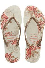 Sandalia de Mujer Havaianas SLIM ORGANIC Beige / Dorado