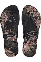 Sandalia de Mujer Havaianas SLIM ORGANIC Negro / Rosado