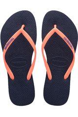 Havaianas Acero / Rosado de Mujer modelo SLIM LOGO POP-UP Casual Deportivo Playeras Walking Zapatillas Mujer Calzado