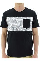 Polo de Hombre Nike SB CAMO POCKET TEE Negro / Blanco