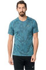 Nike Celeste de Hombre modelo DF MILER OPTICAL RUN SS Deportivo Polos Running Training Hombre Ropa