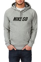 Polera de Hombre Nike SB ICON GRAPHIC PO FLEECE Gris