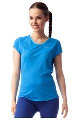 Nike Celeste de Mujer modelo RACER SS TOP Deportivo Polos Tops Ropa