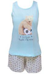Pijama de Mujer Kayser 70.640 Celeste