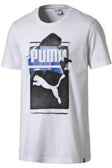 Polo de Hombre Puma BRAND TEE Blanco