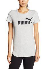 Puma Gris / Negro de Mujer modelo ESS NO.1 TEE W Deportivo Polos Tops Ropa