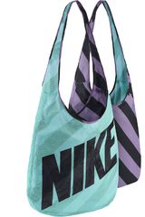 Nike Celeste de Mujer modelo GRAPHIC REVERSIBLE TOTE Carteras Bolsos
