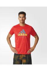 adidas Rojo de Hombre modelo PES ADIDAS RUN Polos Deportivo