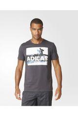adidas Gris Oscuro de Hombre modelo TRAIL RUNNING Deportivo Polos Running Training Hombre Ropa