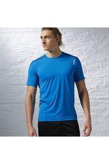 Reebok Celeste de Hombre modelo OS ACTIVCHILL SS TOP Deportivo Polos Running Training Hombre Ropa
