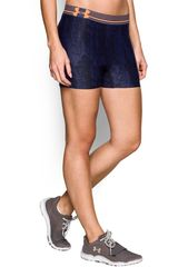 Short de Mujer UNDER ARMOUR HG ALPHA PRINTED Azul
