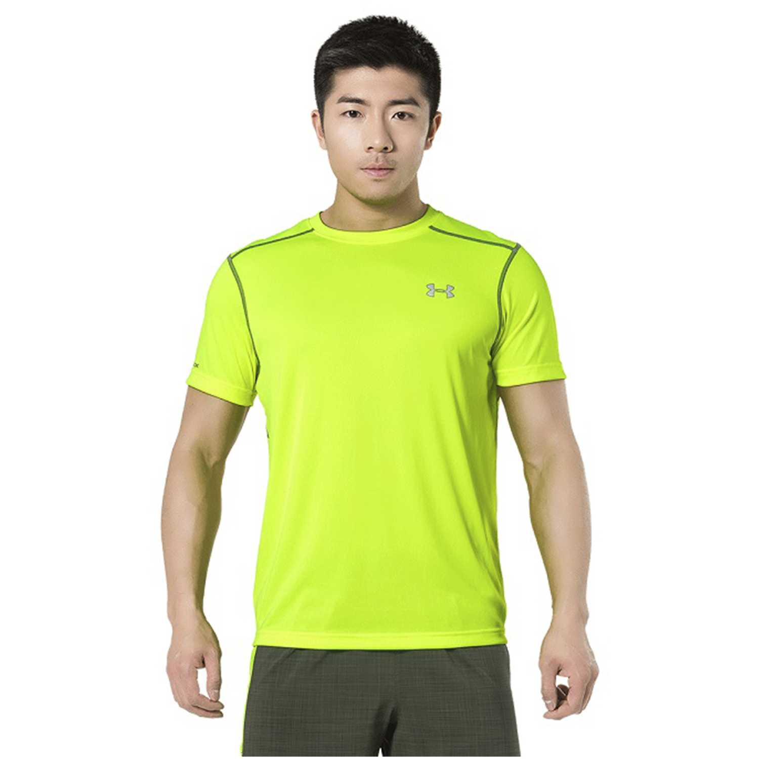 Camiseta de Hombre Under Armour Amarillo ua coldblack run s/s tee