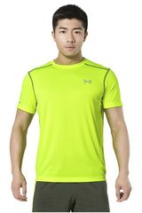 Camiseta de Hombre Under Armour UA COLDBLACK RUN S/S TEE Amarillo