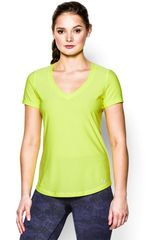 Under Armour Limón de Mujer modelo UA PERFECT PACE TEE Ropa Polos Deportivo Mujer