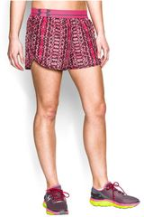 Short de Mujer UNDER ARMOUR UA PRNT PERFECT PACE Fucsia