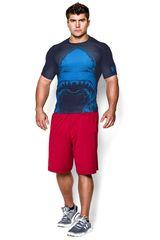 Under Armour Azul de Hombre modelo 100% BEAST COMP SS SHARK Camisetas Deportivo Polos Walking Hombre Ropa