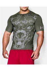 Under Armour Verde de Hombre modelo 100% BEAST COMP SS WOLF Camisetas Deportivo Polos Walking Hombre Ropa