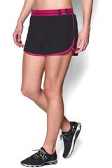 Short de Mujer UNDER ARMOUR UA PERFECT PACE Negro / Morado