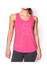 Under Armour Rosado de Mujer modelo OVERSIZE RUN GRAPHIC TANK Deportivo Bividis
