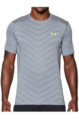 Under Armour Gris de Hombre modelo RAID EXO JACQUARD MESH TEE Camisetas Deportivo Polos Walking Hombre Ropa