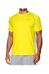 Camiseta de Hombre UNDER ARMOURUA TECH NOVELTY SS Amarillo