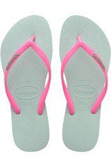 Havaianas Rosado / Turquesa de Mujer modelo SLIM LOGO POP-UP Casual Deportivo Playeras Walking Zapatillas Mujer Calzado