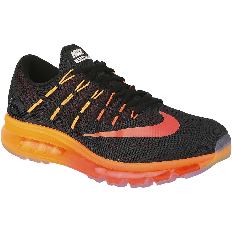 af59546773eb0 Zapatilla de Hombre Nike Negro   naranja air max 2016