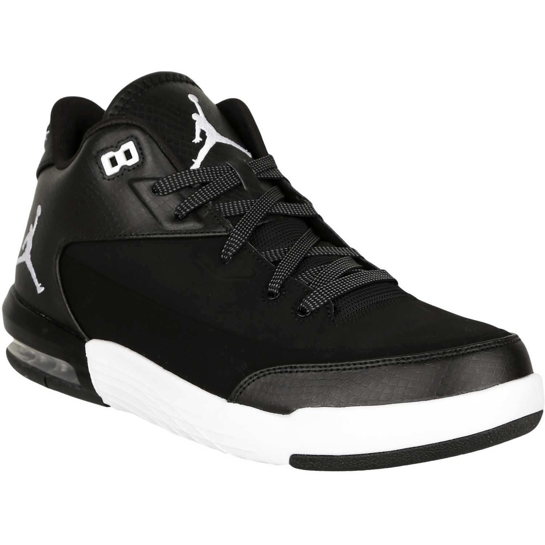 zapatillas jordan negras con blanco