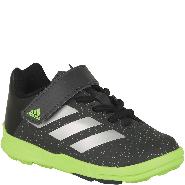 check out 42505 4b720 ... cheap for discount 4e571 79d2d Zapatilla de Niño adidas Negro Verde  messi el ...