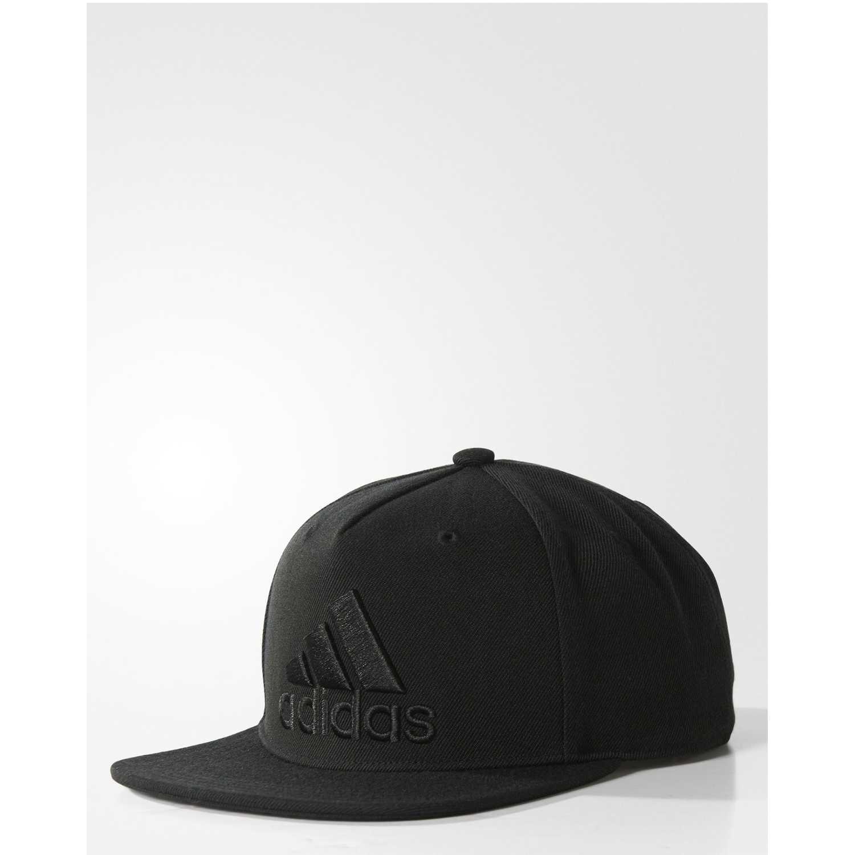 404b6a7b9fe65 Gorro de Hombre adidas Negro flat cap logo
