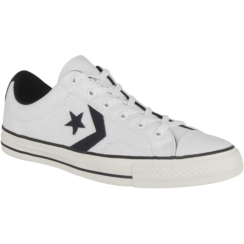 Converse Star player canvas ox k Blanco nlIGE