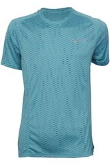 Nike Celeste de Hombre modelo DF MILER FUSE SS Deportivo Polos Running Training Hombre Ropa