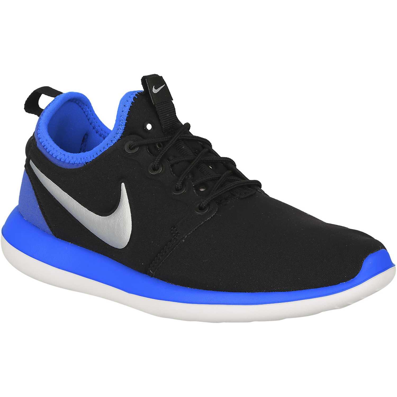 Zapatilla de Jovencito Nike Negro / azul roshe two bg