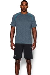 Camiseta de Hombre UNDER ARMOURUA TECH SS TEE Gris / Celeste