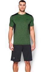 Camiseta de Hombre UNDER ARMOUR RAID SS TEE Verde / Negro