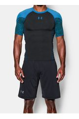 Camiseta de Hombre Under Armour Negro / Celeste HG ARMOUR EXCLUSIVE COMP SS