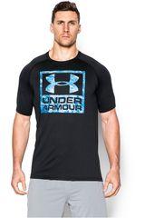 Camiseta de Hombre UNDER ARMOUR BOXED LOGO SS T Negro