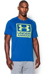 Camiseta de Hombre UNDER ARMOUR BOXED LOGO SS T Azulino
