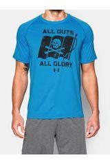 Under Armour Celeste de Hombre modelo TECH ALL GUTS ALL GLORY SS T Camisetas Deportivo Polos Walking Hombre Ropa
