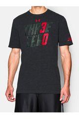 Under Armour Gris Oscuro de Hombre modelo SC30 THREE ZERO TEE Deportivo Polos Running Training Hombre Ropa