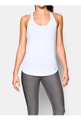 Bividi de Mujer UNDER ARMOUR FLY BY 2.0 SOLID TANK Blanco